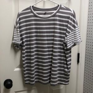 BP gray and white striped tee